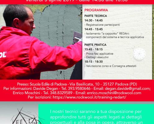 Locandina - nuovo redart - A3 - Scuola edile di Padova 5 aprile 2019 hd