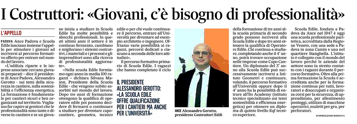 Il_Gazzettino Padova Scuola Edile